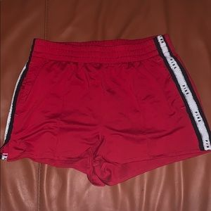 Pink Victoria's Secret Red Shorts